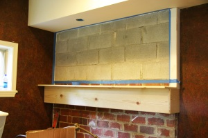 HGTV brick wall before pr