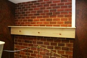HGTV brick wall done pr