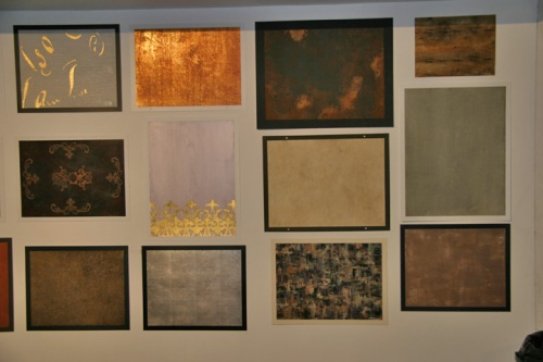 Wall of finishes- two