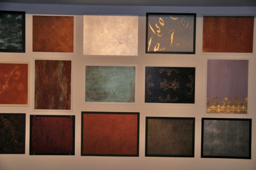 Wall of finishes- three
