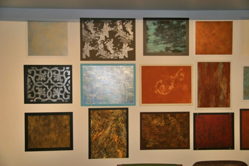 Wall of finishes- four