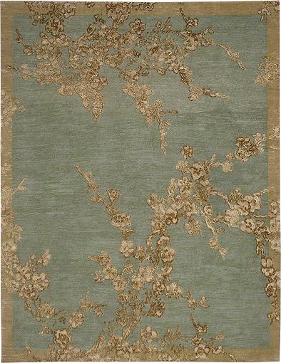 Sakura_celadon Asha Carpets