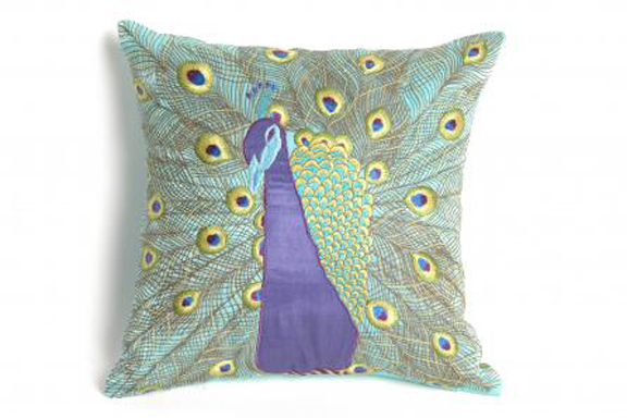 Rouge Living peacock pillow